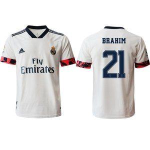 Real Madrid Brahim Diaz White 20-21 Jersey